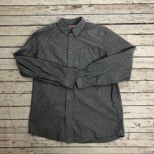 Wrangler gray long sleeve casual dress shirt Sz M